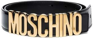 Moschino black logo belt