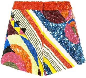 Manish Arora geometric patterned shorts