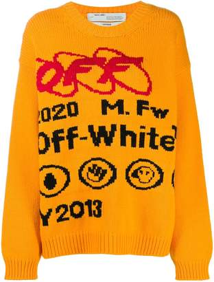 Off-White industrial logo sweater