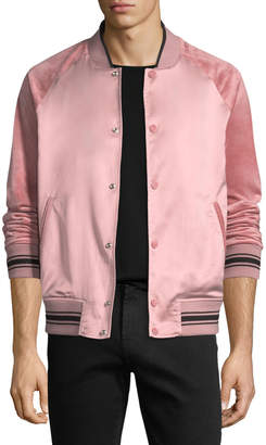Ovadia & Sons Alex Satin Varsity Jacket