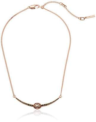 Kenneth Cole New York Supercharged Collection Women's Stone and Black Diamond Accent Frontal Necklace