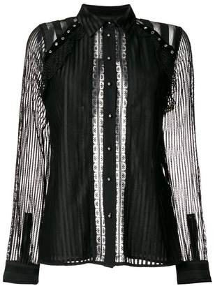 Just Cavalli sheer striped blouse