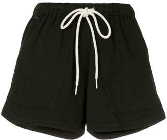Bassike washed herringbone beach shorts