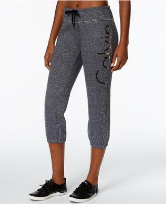Calvin Klein Performance Molton Logo Cropped Sweatpants $49 thestylecure.com
