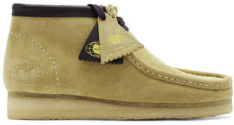 Clarks Tan Wu Wear Edition Suede Wallabee Boots