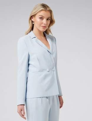 Forever New Natalia petite relaxed blazer - Blue - 6