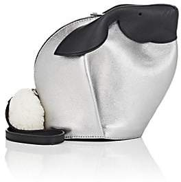 Loewe Women's Bunny Leather Crossbody Bag - White, Silver