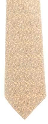 Hermes Paisley Print Silk Tie