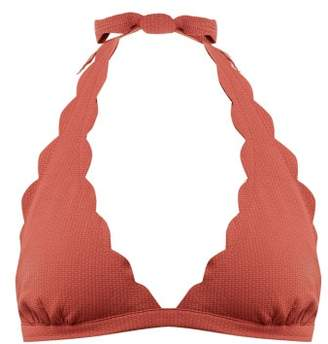 219b3e648a2 Marysia Swim Spring Scallop Edged Bikini Top - Womens - Dark Pink