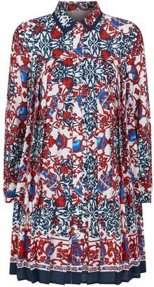 Claudie Pierlot Abstract Print Pleated Dress