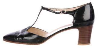 Salvatore Ferragamo Brogue T-Strap Pumps