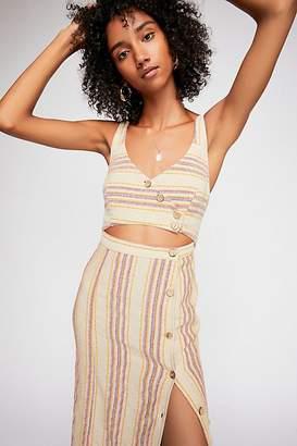 The Endless Summer Striped Ultraviolet Midi Dress