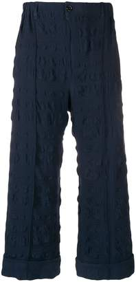Julien David textured cropped trousers
