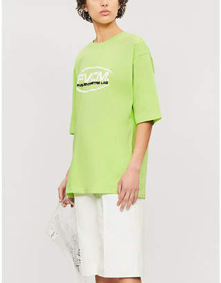 FIVECM Branded-print oversized cotton-jersey T-shirt
