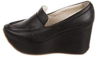 Calvin Klein Collection Matea Leather Platform Loafers