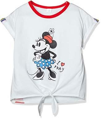 Disney (ディズニー) - [ディズニー] ミニー 裾リボン 半袖 Tシャツ 女の子 332222011 ホワイト 日本 130 (日本サイズ130 相当)