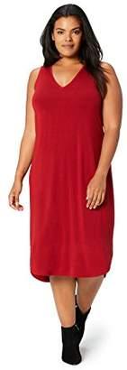 5fd11eab1d ... Daily Ritual Women s Plus Size Jersey Sleeveless V-Neck Dress