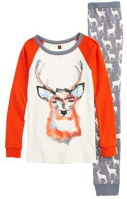 Tea Collection Red Deer Fitted Two-Piece Pajamas (Toddler Boys, Little Boys & Big Boys)