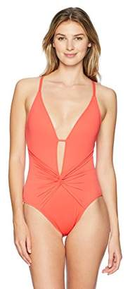 LaBlanca La Blanca Women's Island Goddess Twist Front One Piece Swimsuit