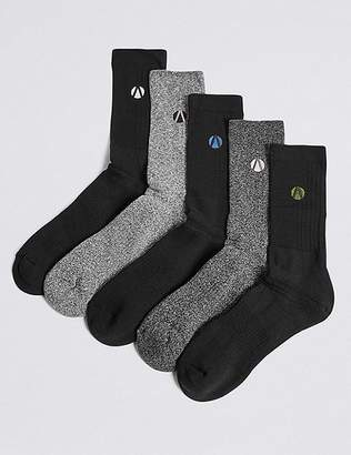 Marks and Spencer 5 Pack Cotton Rich Socks