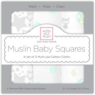 Swaddle Designs Muslin Squares, Woodland Fun (Set of 3 in )