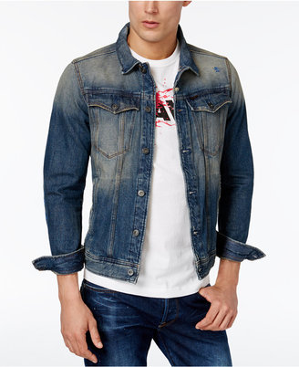 G-Star Raw Men's Slim-Fit Vintage Denim Jacket $230 thestylecure.com