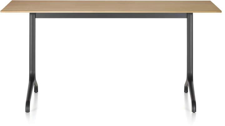 Belleville Esstisch Indoor 160 x 75 cm, tiefschwarz / Furnier Eiche hell