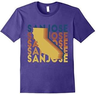 San Jose California T Shirt Retro Repeat CA
