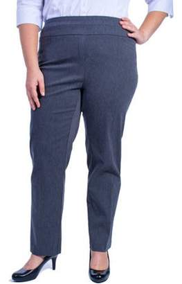 4e0f1385fbf17 at Walmart.com · George Women s Plus-Size Millennium Suiting Pull-On Pant