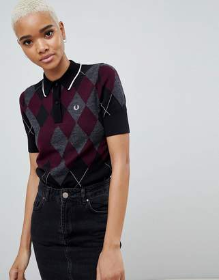 Fred Perry Argyle Knitted Polo