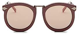 Karen Walker Women's Super Luna 53MM Round Sunglasses