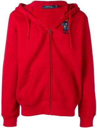 Polo Ralph Lauren embroidered bear hooded jacket
