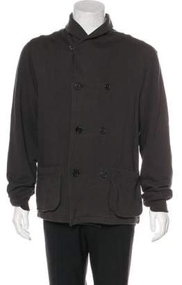 Billy Reid Knit Double-Breasted Peacoat