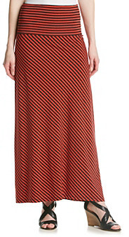 Anne Klein Striped Maxi Skirt