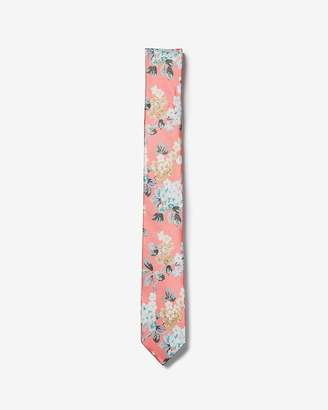 Express Slim Floral Liberty Fabric Silk Tie