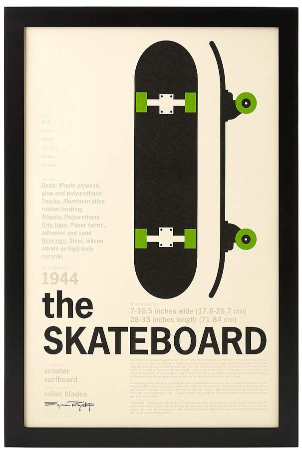 Skateboard Encyclopedic Print