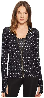 Kate Spade Athleisure Polka Dot Scallop Jacket Women's Coat