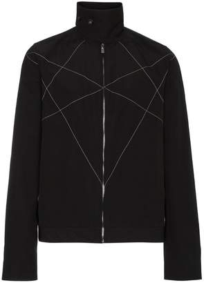 Rick Owens stitch detail high collar jacket