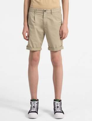 Calvin Klein stretch twill chino shorts