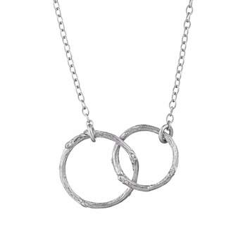 Chupi - Just The Two Of Us Hawthorn Twig Circle Necklace in Silver