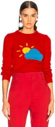 Alberta Ferretti Partly Cloudy Crewneck Sweater