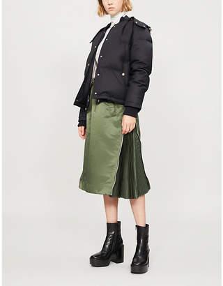 Thom Browne Hooded wool-down puffer jacket