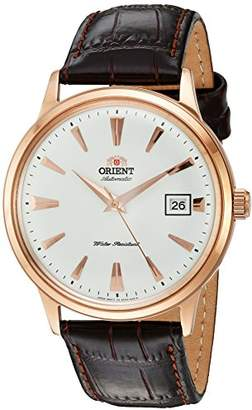 Orient Men's 2nd Gen. Bambino Ver. 1 Stainless Steel Japanese-Automatic Watch with Leather Strap