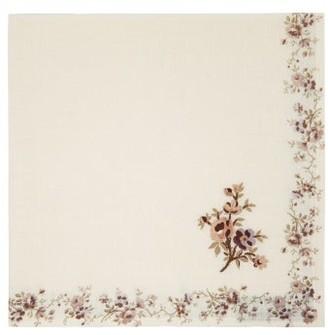 D'Ascoli Set Of Four Garden Cotton Napkins - Brown Multi