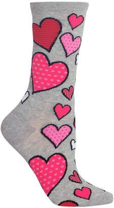Hot Sox Women's Hearts Crew Socks
