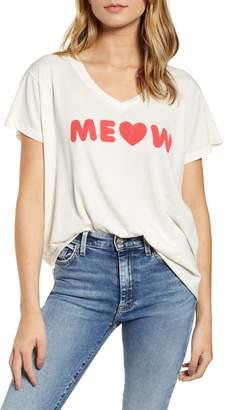 Wildfox Couture Romeo Meow V-Neck Tee