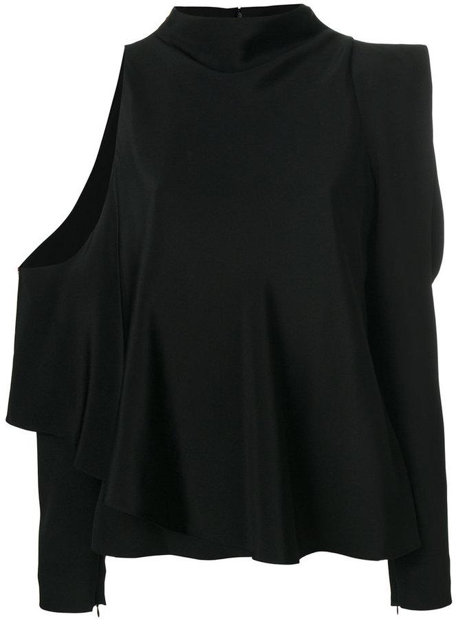 Tom Ford asymmetric cold shoulder top