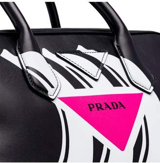 Prada Small Printed Leather Top-Handle Bag