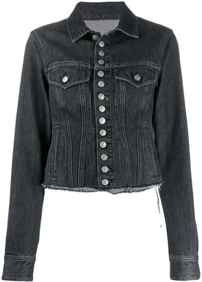 MM6 MAISON MARGIELA frayed hem denim jacket