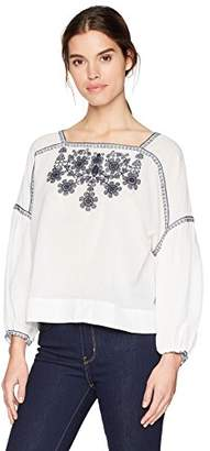 b7d02bbef2071 Max Studio Women s Long Sleeve Floral Embroidery Blouse